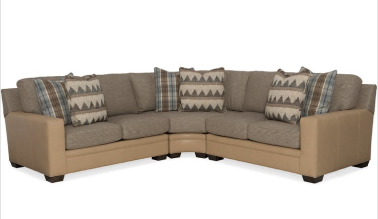 Bradington Young - 223 Leather Sectional Hanley