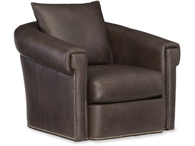 Bradington Young - 301-25SG Leather Swivel Chair ANDRE