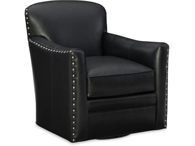 Bradington Young - 316-25SW Leather Swivel Tub Chair LUNA