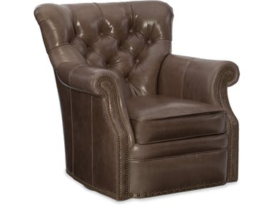Bradington Young - 363-25SW Leather Swivel Chair Kirby