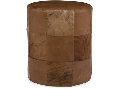 Bradington Young - Leather Ottoman 384-OT - TOP OF THE BARREL