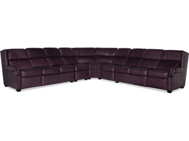 Bradington Young - Leather Motion Sectional - 945 CHERRIE