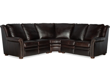 Bradington Young - Leather Motion Sectional - 969 RAVEN