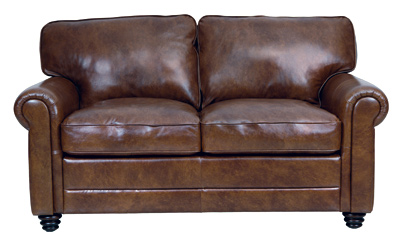 Luke Leather Furniture - Loveseats - ANDREW in Color 2511 Havana
