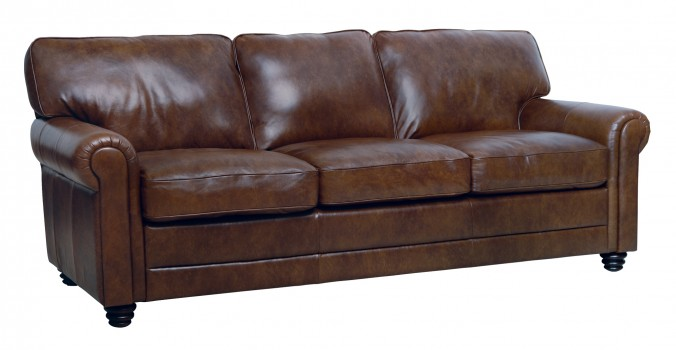 Luke Leather Furniture - Sofas - ANDREW in 2511 Havana Brown