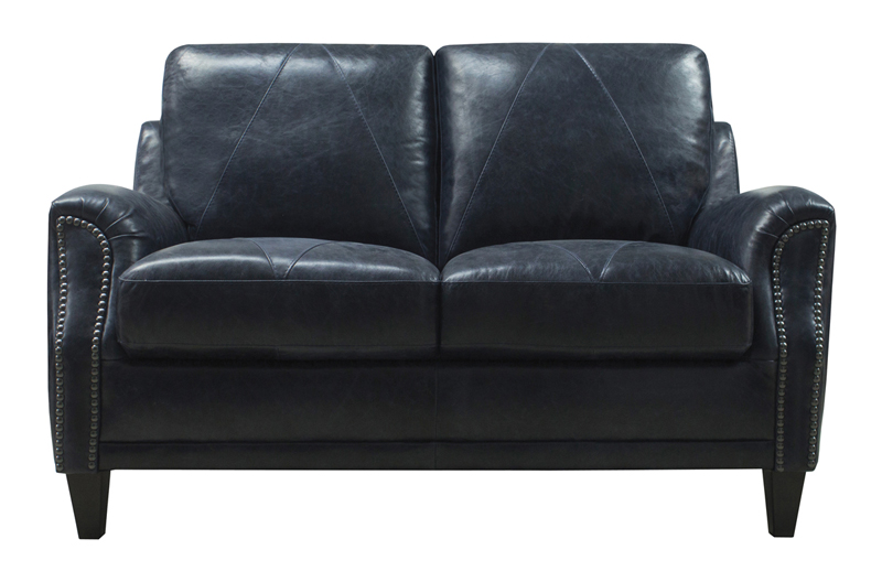 Luke Leather Furniture - Loveseats - Anya in 3513 Midnight Blue