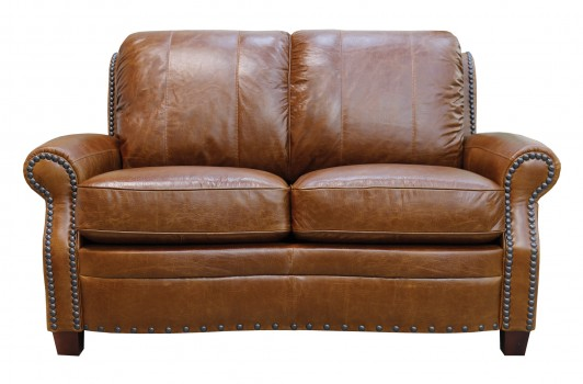 Luke Leather Furniture - Loveseats - ASHTON in 156 Safari Tan