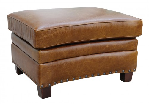 Luke Leather Furniture - Ottomans - Ashton in 156 Safari Tan