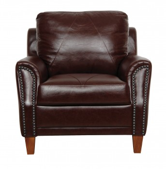 Luke Leather Furniture - Chairs - AUSTIN in color 153 Sienna