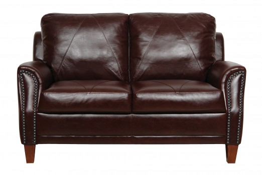 Luke Leather Furniture - Loveseats - AUSTIN in Color 153 Sienna