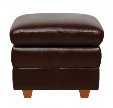 Luke Leather Furniture - Ottomans - AUSTIN in Color 153 Sienna
