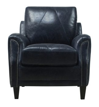 Luke Leather Furniture - Chairs - ANYA Color 3513 Midnight Blue