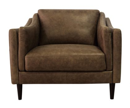 Luke Leather Furniture - Chairs - AVA in 3511 Bomber Tan