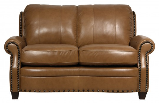 Luke Leather Furniture - Loveseats - BENNETT in Color 2552 Wheat