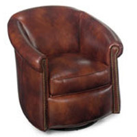 Bradington Young - 340-SG Leather Glider Tub Chair MARIETTA