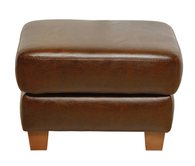 Luke Leather Furniture - Ottomans - JENNIFER in 155 Antique Tan