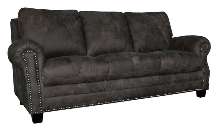 Luke Leather Furniture - Sofas - LEE in Outback Gray