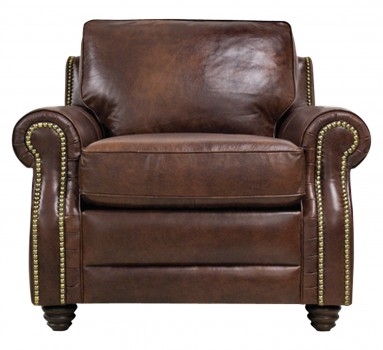Luke Leather Furniture - Chairs - LEVI in Color 2511 Havana