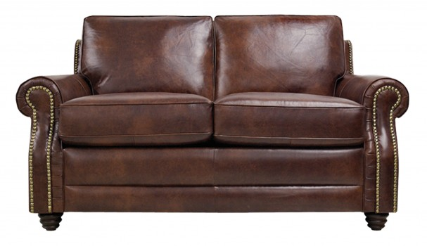 Luke Leather Furniture - Loveseats - LEVI in Color 2511 Havana