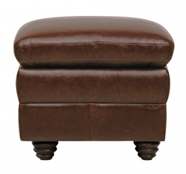 Luke Leather Furniture - Ottomans - LEVI in Color 2511 Havana