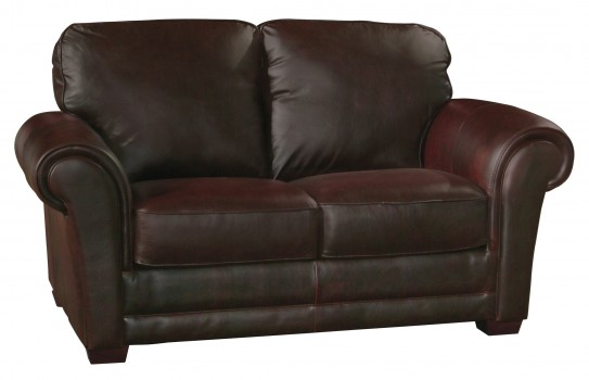 Luke Leather Furniture - Loveseats - Mark in Color 150 Whiskey