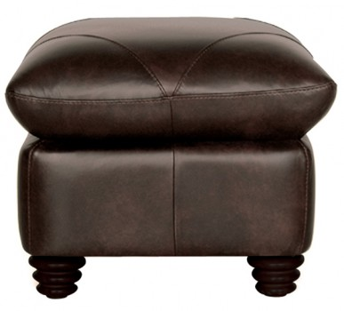 Luke Leather Furniture - Ottomans - SOLOMON in Color 2520 Choca