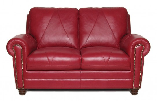 Luke Leather Furniture - Loveseats - Weston in Color 2525 Cherry