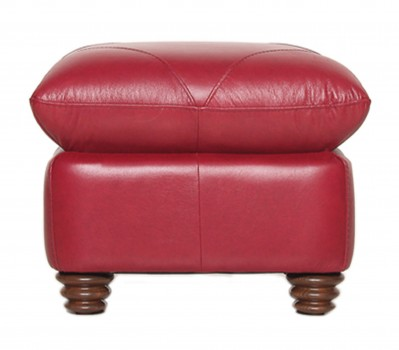 Luke Leather Furniture - Ottomans - WESTON in Color 2525 Cherry