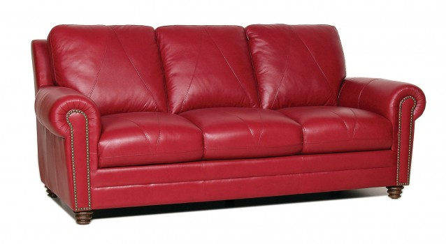Luke Leather Furniture - Sofas - Weston in Color 2525 Cherry