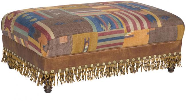 King Hickory Furniture - Campaign Ottoman