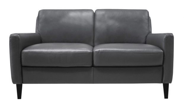 Luke Leather Furniture - Loveseats - Carlo in 307 Gun Metal
