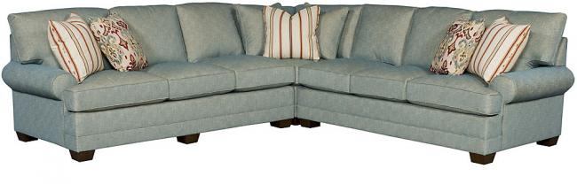 King Hickory Furniture Highlan Park Sectional Highland