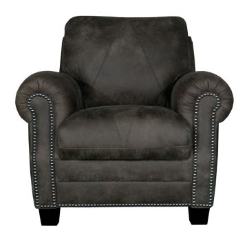 Luke Leather Furniture - Chairs - LEE in color 278 Outback Gray