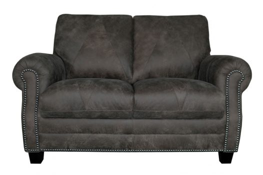 Luke Leather Furniture - Loveseats - LEE Color 278 Outback Gray