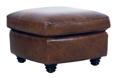 Luke Leather Furniture - Ottomans - ANDREW in 2511 Havana Brown
