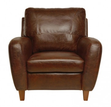 Luke Leather Furniture - Chairs - JENNIFER in 155 Antique Tan