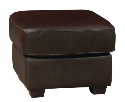 Luke Leather Furniture - Ottomans - Mark in Color 150 Whiskey