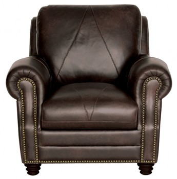 Luke Leather Furniture - Chairs - SOLOMON in Color 2520 Choca