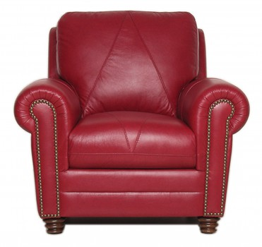 Luke Leather Furniture - Chairs - WESTON in color 2525 Cherry